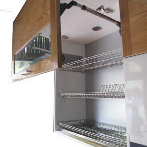 Giá để bát đĩa 3 tầng có khay đựng nước